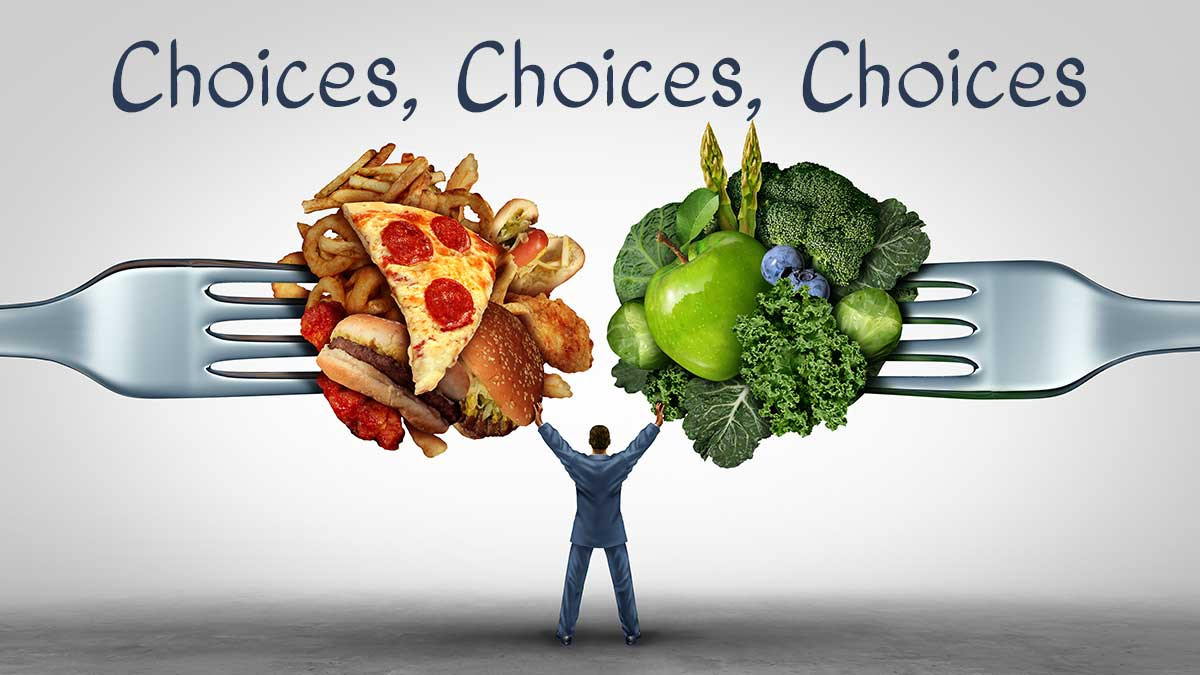 choices with carbs vs green vegetables