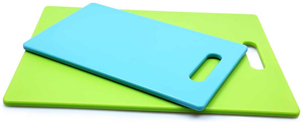 blue and green acrylic cutting boards