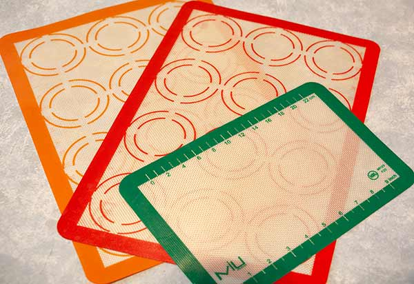 three assorted Silicone baking sheets