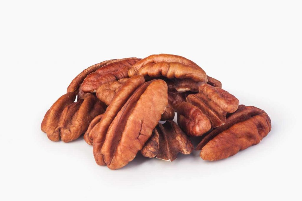 group of shelled pecans