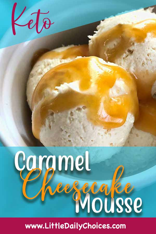 Caramel Cheesecake Mousse for Pinterest