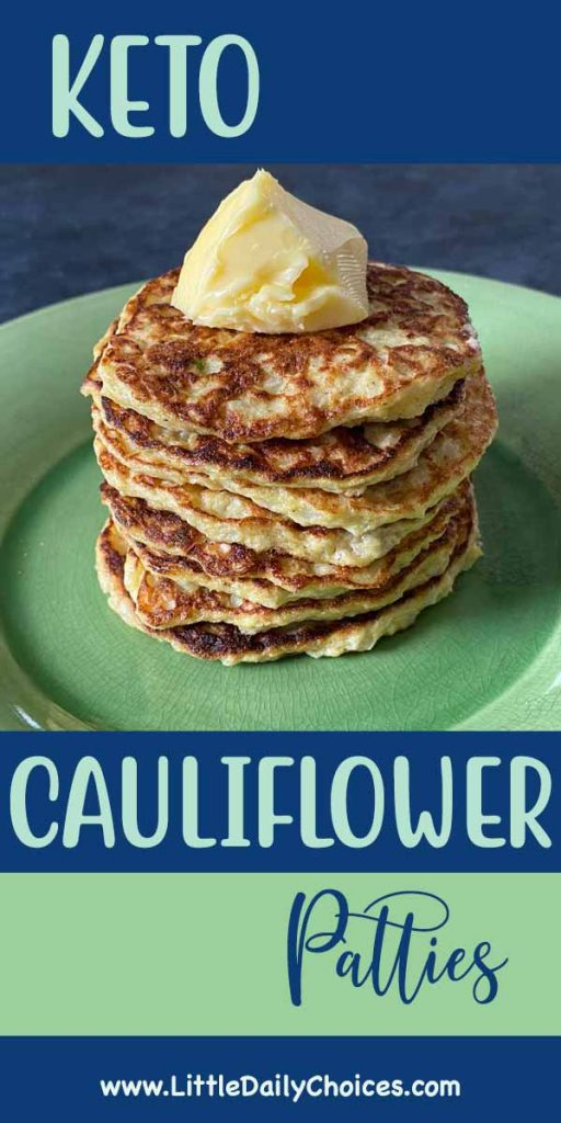 pin for cauliflower patties recipe