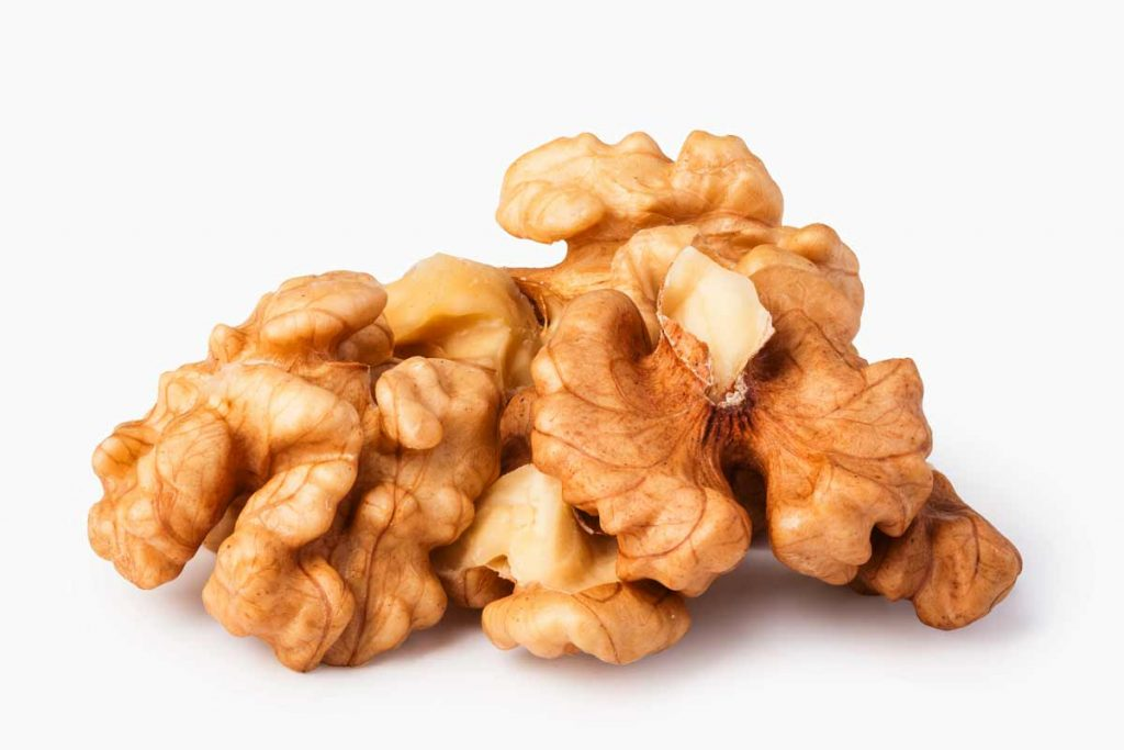 group of shelled walnuts