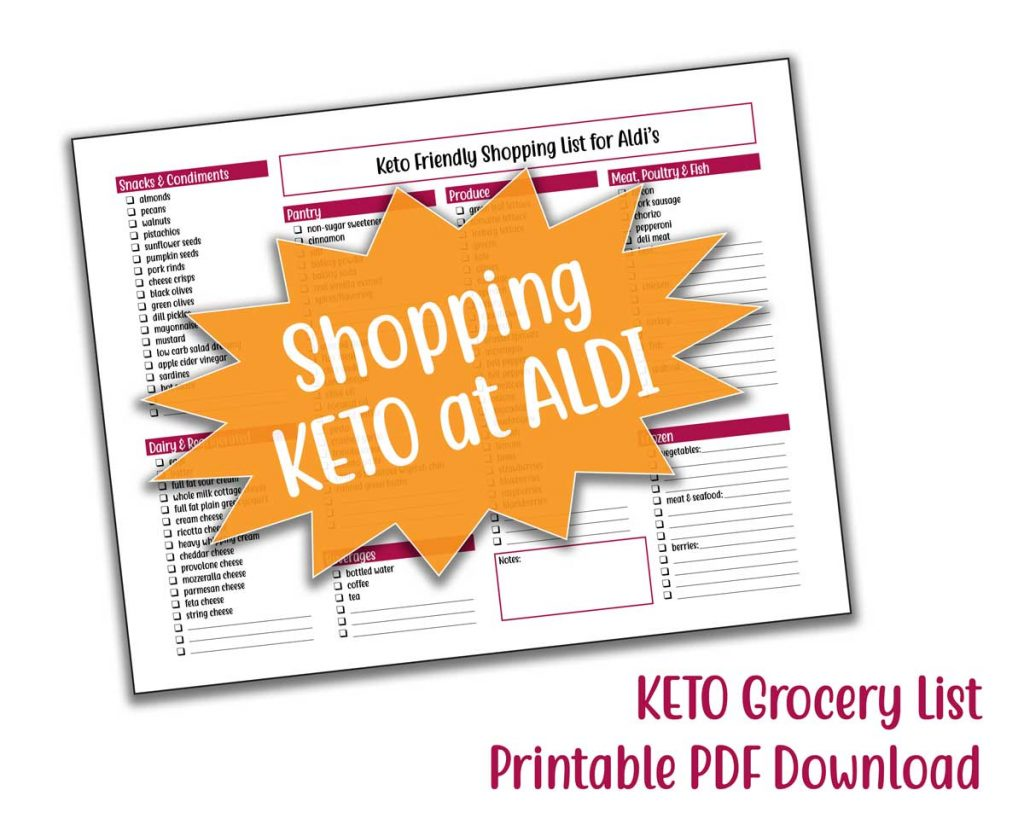 aldi keto shopping list downloadable pdf