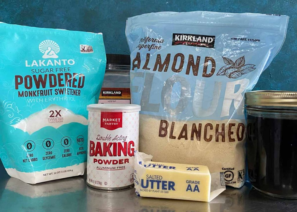 Almond flour shortbread cookie recipe ingredients