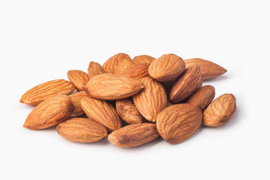 low carb snacks - group of almonds