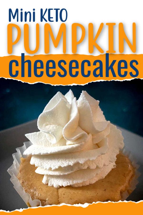 Pin for Keto Pumpkin Cheesecake recipe