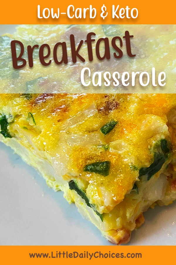 Pin image for low-carb keto breakfast casserole