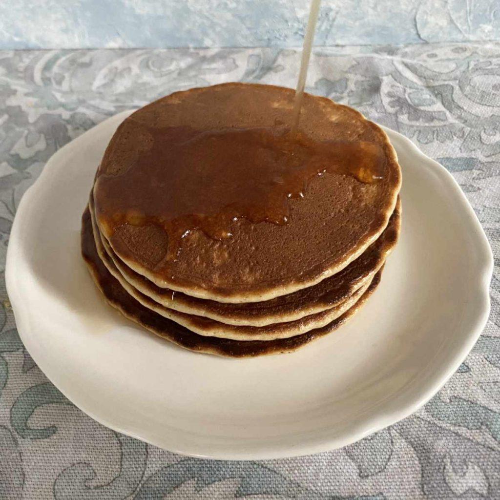 stack of almond flour pancakes
