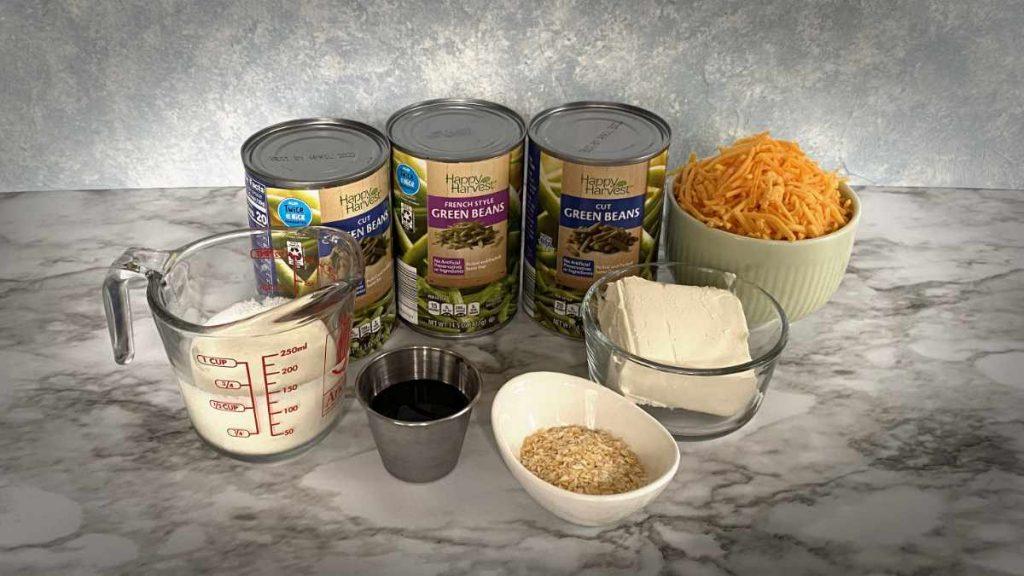 keto green bean casserole ingredients
