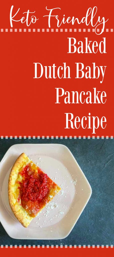 Pin single serving dutch baby on plate